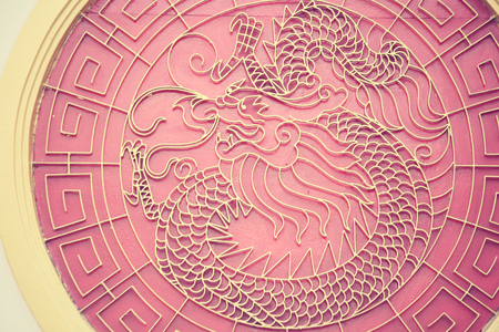 Dragon in chinese temple photo