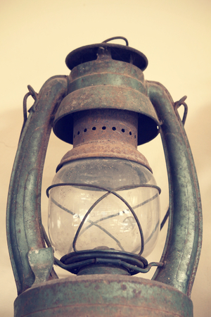 oil lamp: vintage dirty oil lamp