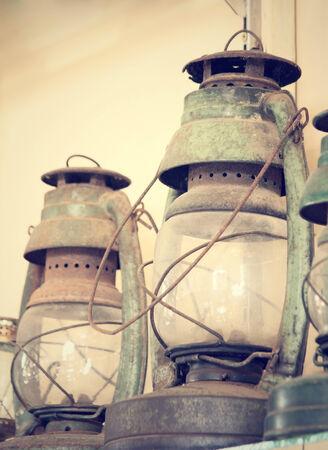 oil lamp: vintage dirty oil lamp