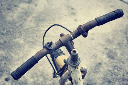 handlebar: vintage bicycle handlebar.