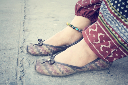 anklet: woman with anklet