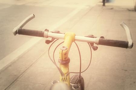 handlebar: handlebar of bike