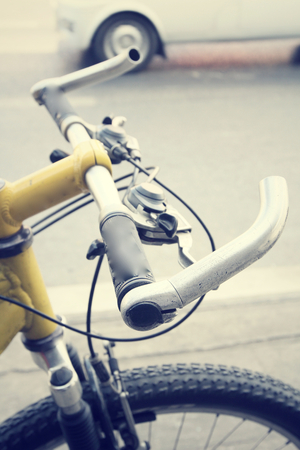 handlebar: handlebar of bike