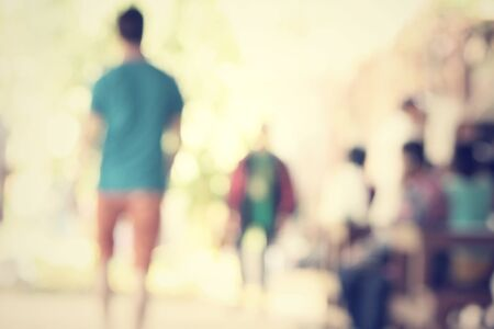 defocussed: blurred of people Stock Photo