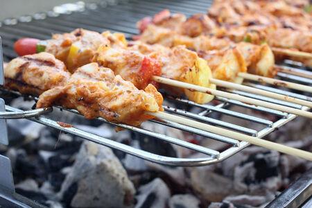 kebob: bbq grill Stock Photo