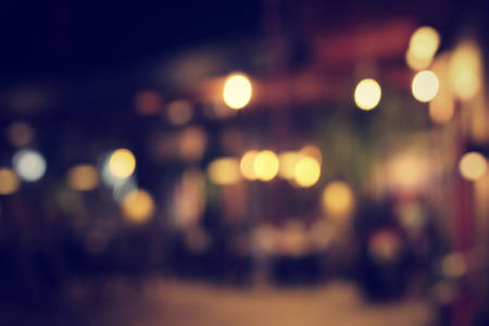 modern life: Blurred of restaurant at night