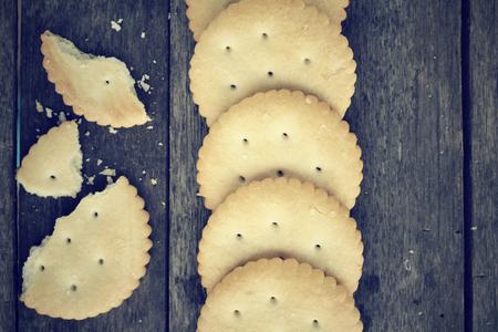 crackers: Galletas  Foto de archivo