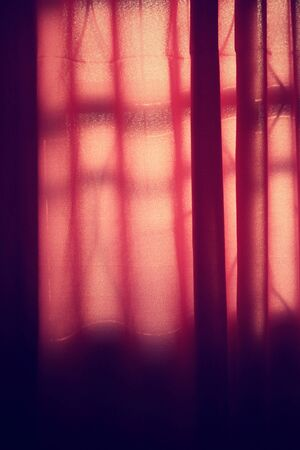 window curtains: Curtains window with shadow Stock Photo