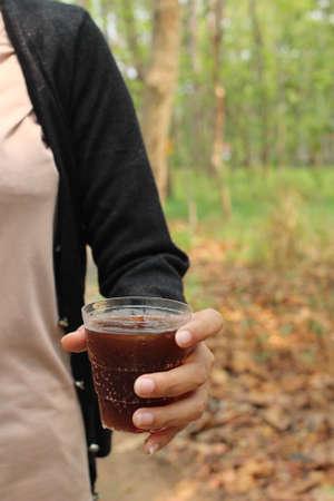 cola: Drinking cola Stock Photo