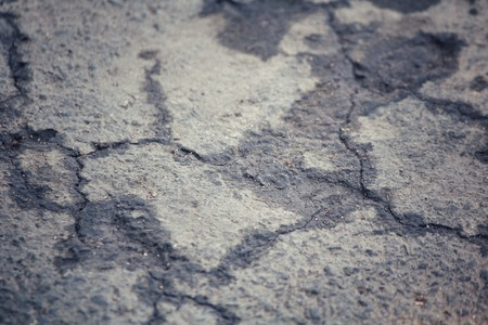 Cracks on the road photo