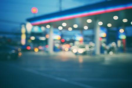 Wazig van tankstation