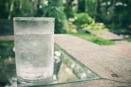 Drink water Standard-Bild