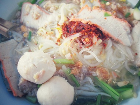 Noodles in soup of asia style photo