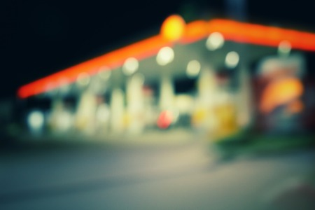 petroleum fuel: Blurred of gas station