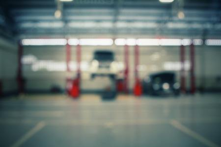 garage automobile: Floue de la station de service de réparation