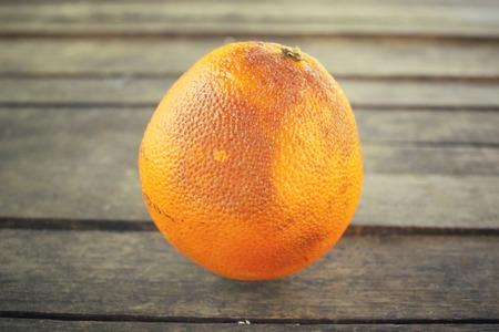 mildewed: Rotten orange fruit Stock Photo