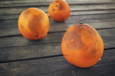spoilage: Rotten orange fruit Stock Photo