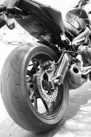 Motorcycles wheel photo