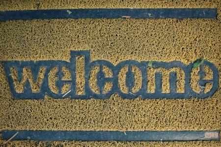 doormat: Welcome doormat Stock Photo