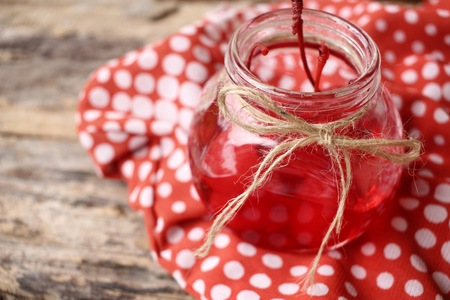 syrup: Cherries in syrup Stock Photo