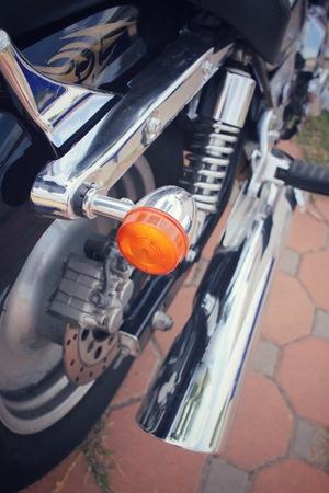 spiralling: Motorcycle Stock Photo