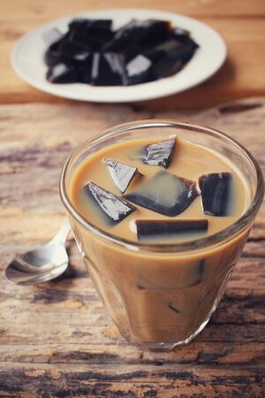 coffee jelly: Coffee with jelly Stock Photo