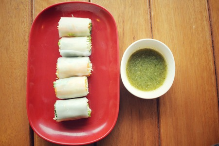 cuon: Vietnamese noodles roll Stock Photo