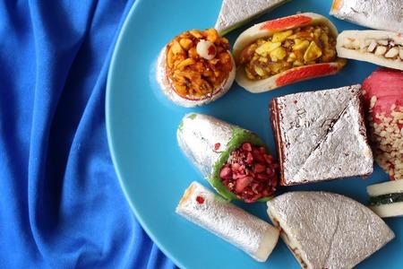 pakistani food: Indian desserts Stock Photo