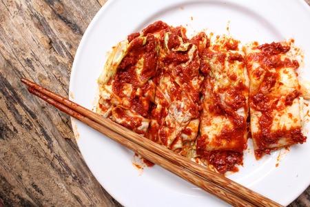 korean food: Kimchi korean food Stock Photo