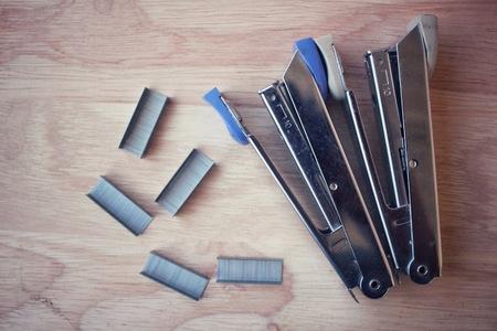 staples: Stapler and staples.