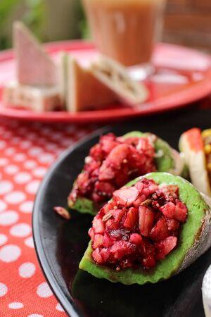 pakistani food: Indian desserts with milk tea