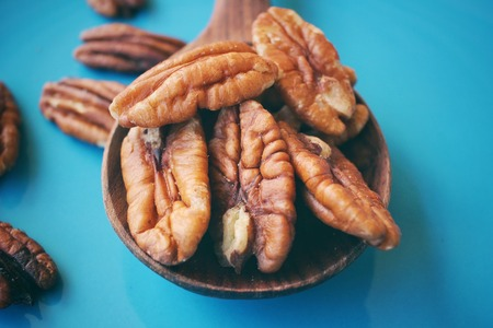 pecan: Pecan nuts Stock Photo