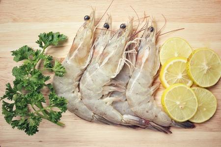 shrimp cocktail: Raw shrimp Stock Photo