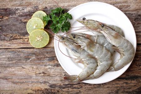 Raw shrimp Standard-Bild