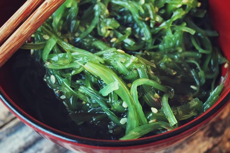 algas marinas: Ensalada de algas
