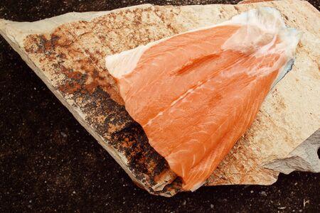 redfish: Fresh raw salmon Stock Photo