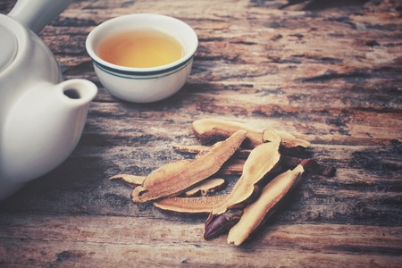 mushroom: Ganoderma lucidum tea - Ling zhi mushroom.