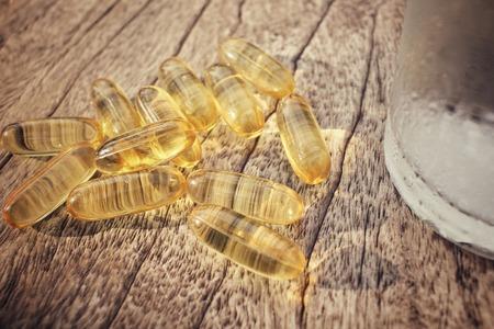 cod oil: Cod liver oil capsules