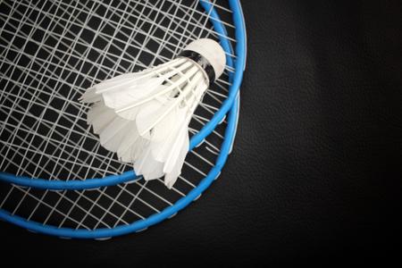 badminton racket: Shuttlecocks with badminton racket