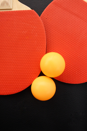 on the table: Table tennis