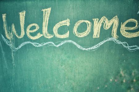 acogida: Letrero de Bienvenida