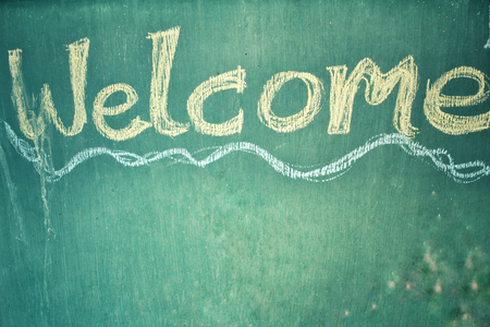 welcome to: Welcome signboard