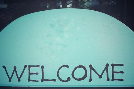 bienvenida: Letrero de bienvenida de la vendimia