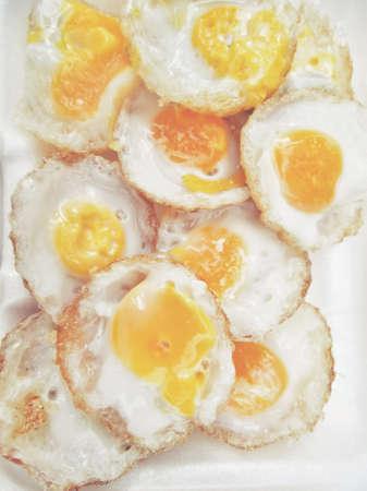 codorniz: Fried quail eggs Foto de archivo