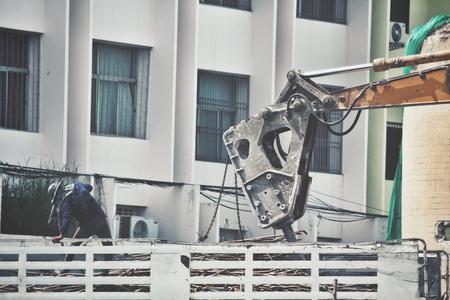 dismantle: Building demolition debris