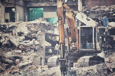 demolishing: Building demolition debris