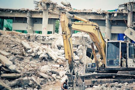 debris: Building demolition debris