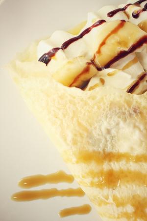 crepas: Crepes con el plátano