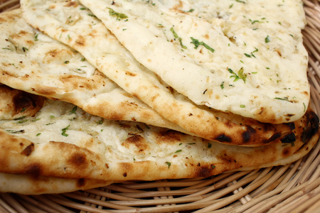 Indische Naan-Brot Standard-Bild