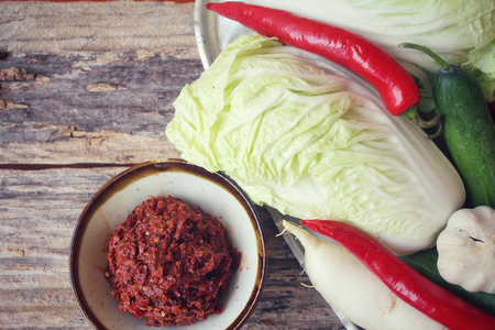 Kimchi koreanisches Essen Standard-Bild - 47584370